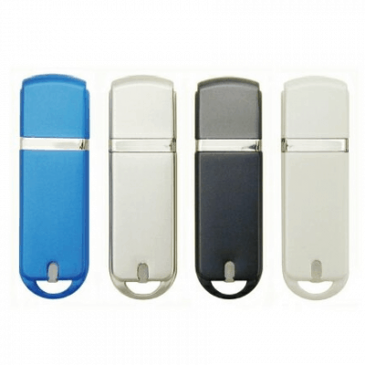 Chrome-Look USB Flash Drive - 1GB