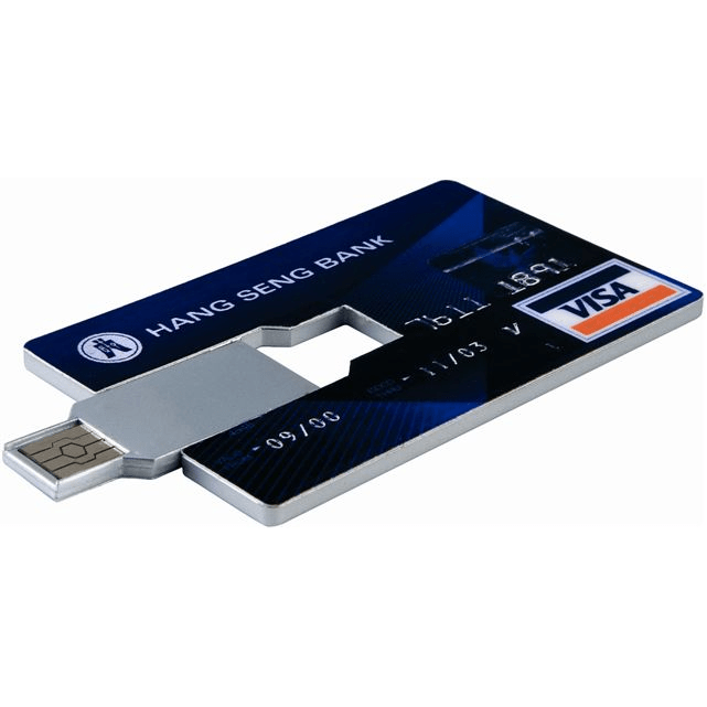 Credit Card USB Flash Drive - 1GB