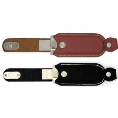 Genuine USB Leather Flash Memory Stick - 1GB