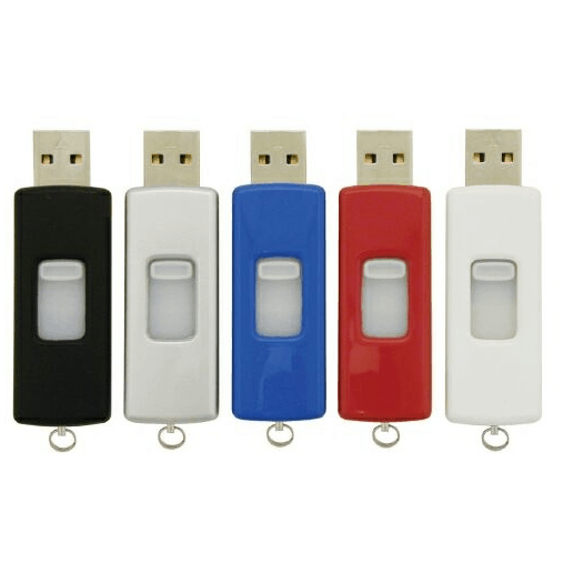 Retractable USB Flash Drive - 1GB