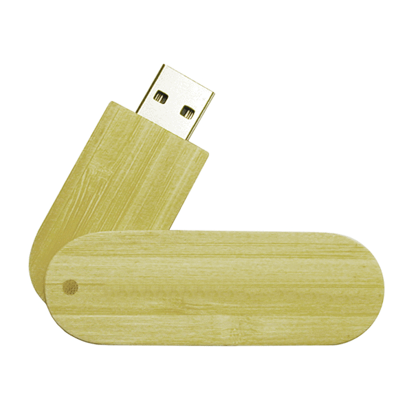 Wood Swivel Cap USB Flash Memory Stick - 1GB