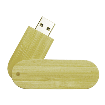Wood Swivel Cap USB Flash Memory Stick - 4GB