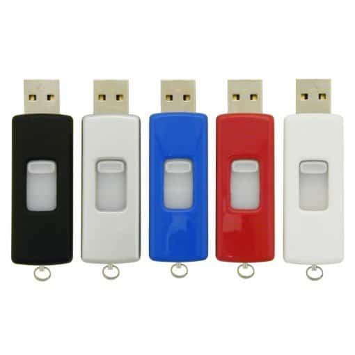 Retractable USB Flash Drive - 2GB