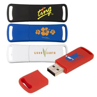 SourceAbroad® Rubberized USB Memory Flash Drive - 2 GB